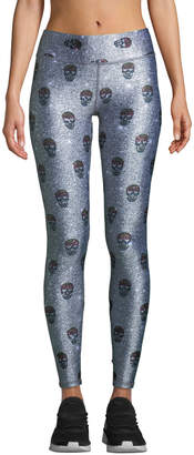 Terez Skull-Print Tall Band Activewear Leggings