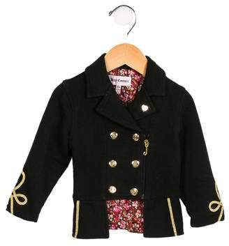 Juicy Couture Girls' Double-Breasted Zip-Up Jacket