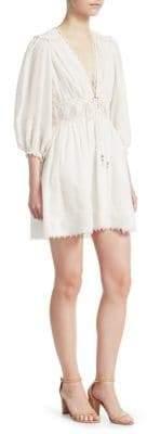 Zimmermann Iris Corset Waist Mini Dress