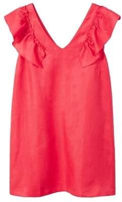 Violeta BY MANGO Ruffled linen dress