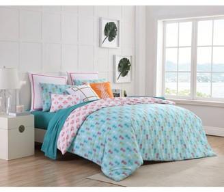 Clairebella Tropical 2/3 Piece 200 Thread Count 100% Cotton Duvet Cover Set, Shams Included