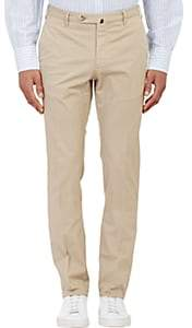 Incotex Men's M-Body Modern-Fit Stretch-Cotton Trousers - Beige, Tan