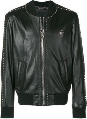 Philipp Plein studded bomber jacket