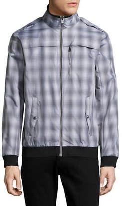 Calvin Klein Plaid Bomber Jacket