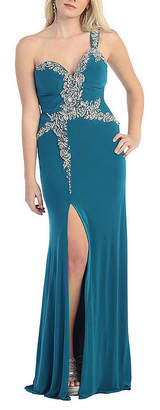 Asstd National Brand Gorgeous One Shoulder Long Stretchy Pageant Dress