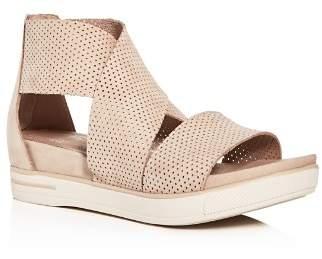 Eileen Fisher Women's Perforated Crisscross Platform Sandals