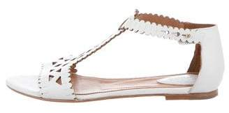 Chloé Leather Cut-Out Sandals