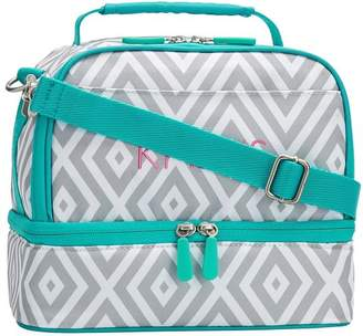 Pottery Barn Teen Gear-Up Preppy Diamond Dual Compartment Lunch Bag, Gray