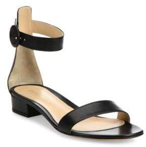 Gianvito Rossi Leather Ankle-Strap Flat Sandals