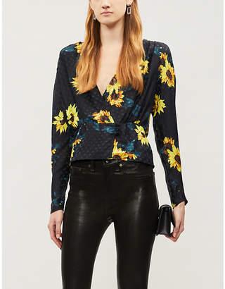 The Kooples Sunflower polka dot jacquard blouse