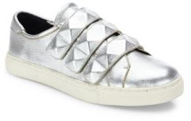 Rebecca Minkoff Becky Leather Sneakers $150 thestylecure.com
