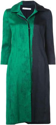 Oscar de la Renta contrast print coat
