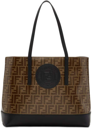 Fendi Brown and Black Forever Shopper Tote