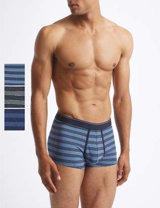 Marks and Spencer 3 Pack Cool & Fresh Stretch Cotton Hipsters