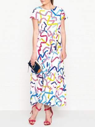 Paul Smith Ribbon Print Maxi Dress - White