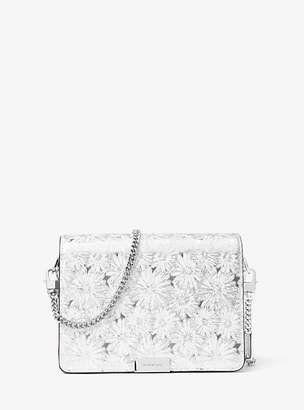 Michael Kors Jade Floral Metallic Leather Clutch