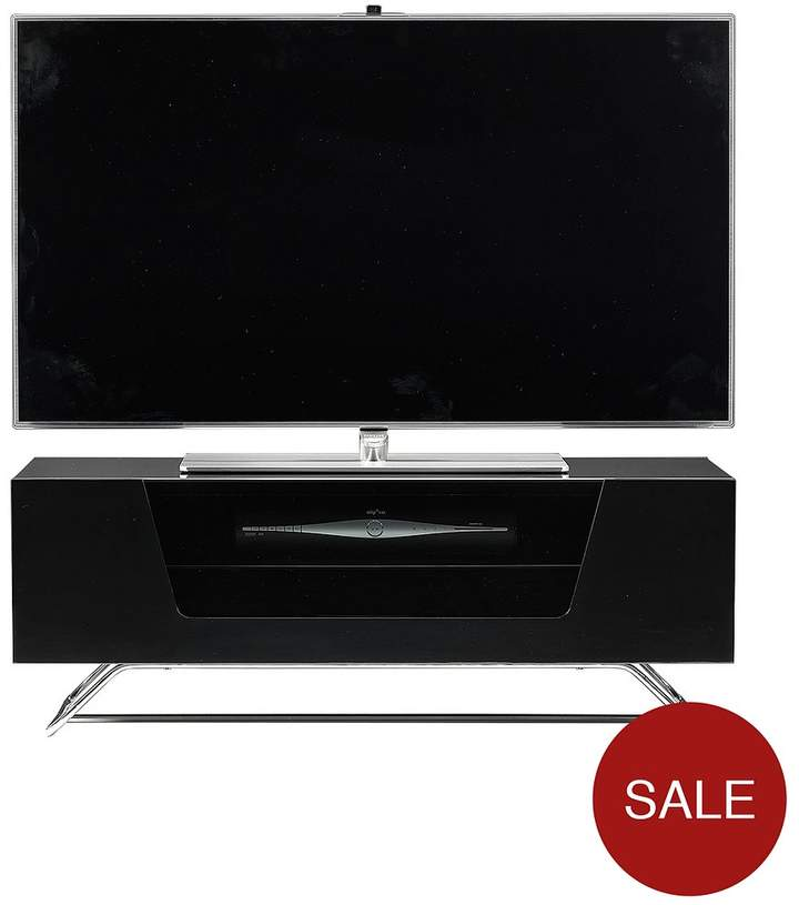 Chromium TV Stand - Fits Up To 50 Inch TV - Black