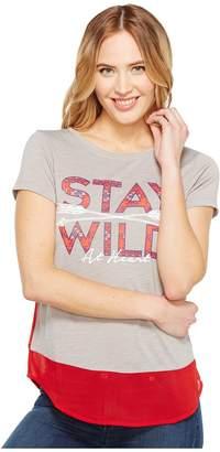 Cruel Short Sleeve Tee Poly/Rayon Slub Contrast Women's T Shirt