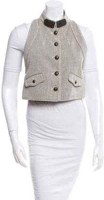 Proenza Schouler Embellished Woven Vest w/ Tags