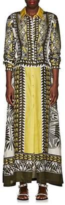 Alberta Ferretti Women's Geometric-Print Silk Midi-Dress