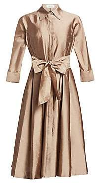 Teri Jon by Rickie Freeman Women's Silk Taffeta Shirtdress