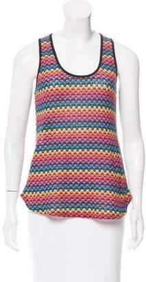 Trina Turk Stripe Patterned Sleeve Top