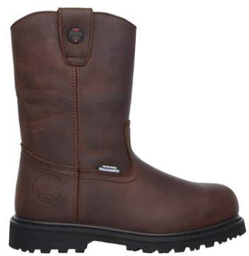 Skechers Men's Ruffneck Relaxed Fit Safety Toe Wellington Work Boot