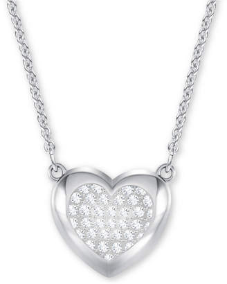 Swarovski Pave Heart Pendant Necklace