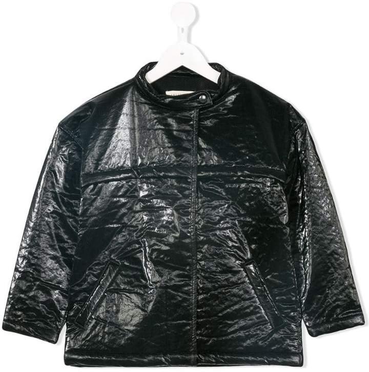 Andorine textured patent jacket