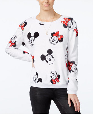 Disney Juniors' Mickey & Minnie Mouse Plush Sweatshirt $34 thestylecure.com