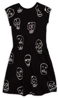 Nununu Todder's, Little Girl's& Girl's Skull Mask Dress