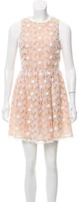 Michael Kors Floral Embroidered Mini Dress White Floral Embroidered Mini Dress