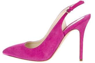 Brian Atwood Pointed-Toe Slingback Pumps w/ Tags