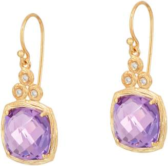 ADI Paz Cushion Cut Gemstone & Diamond Earrings, 14K