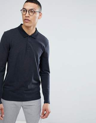 Selected Longsleeve Polo With Contrast Collar