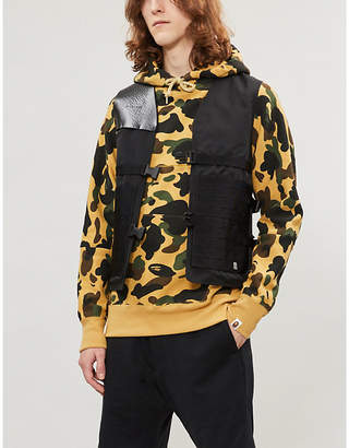 7ec8a7fd A Bathing Ape Graphic-back camouflage cotton-jersey hoody
