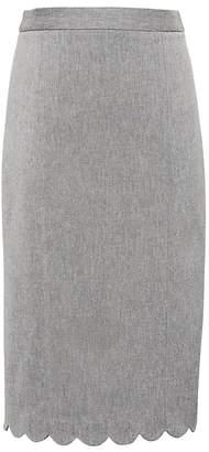 Banana Republic Scalloped Bi-Stretch Pencil Skirt