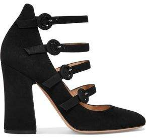 Gianvito Rossi Suede Mary Jane Pumps