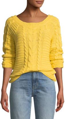 Rebecca Minkoff Juna Boat-Neck Cable-Knit Sweater
