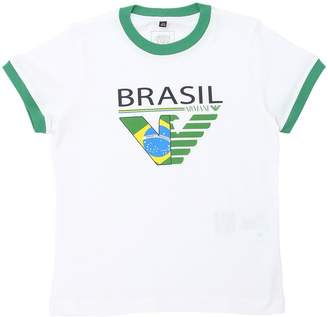 Armani Junior Brazil Soccer Team Cotton Jersey T-Shirt