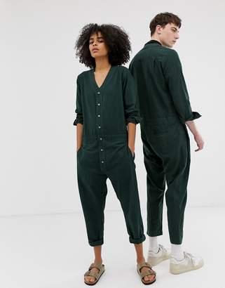 Seeker unisex jumpsuit in organic hemp cotton