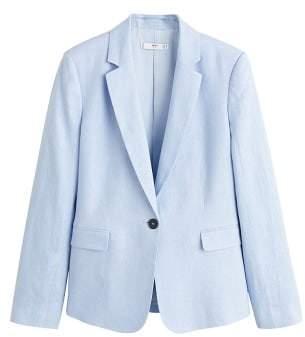 MANGO Linen blazer suit