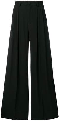 Semi-Couture Semicouture high rise palazzo trousers