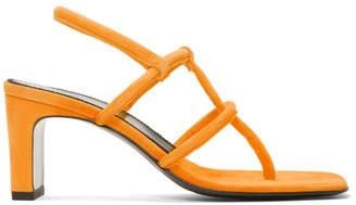 Dorateymur Orange Suede Thong Sandals