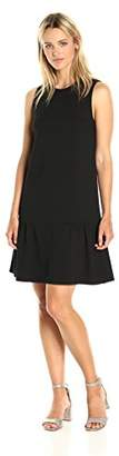 Paris Sunday Women's Sleeveless Ponte Dropwaist Dress