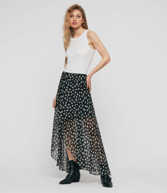AllSaints Slvina Scatter Skirt