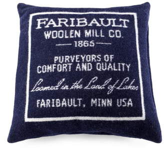 Faribault Woolen Mill Logo Wool Blend Pillow Cover