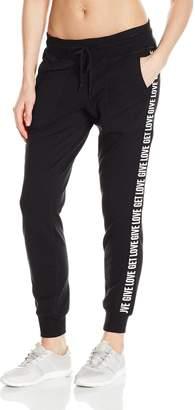 Betsey Johnson Women's Give Love Get Logo Skinny Sweatpant