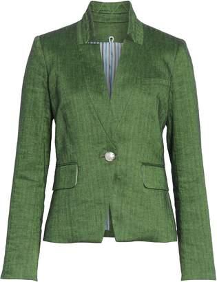 Veronica Beard Farley Linen Blend Dickey Jacket