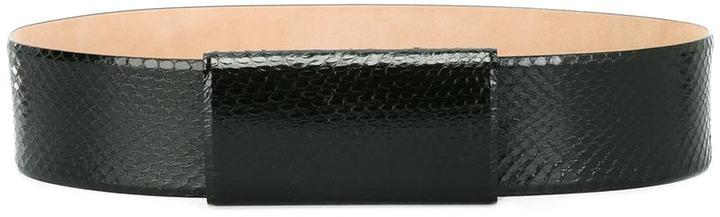 Max Mara Max Mara buckleless belt